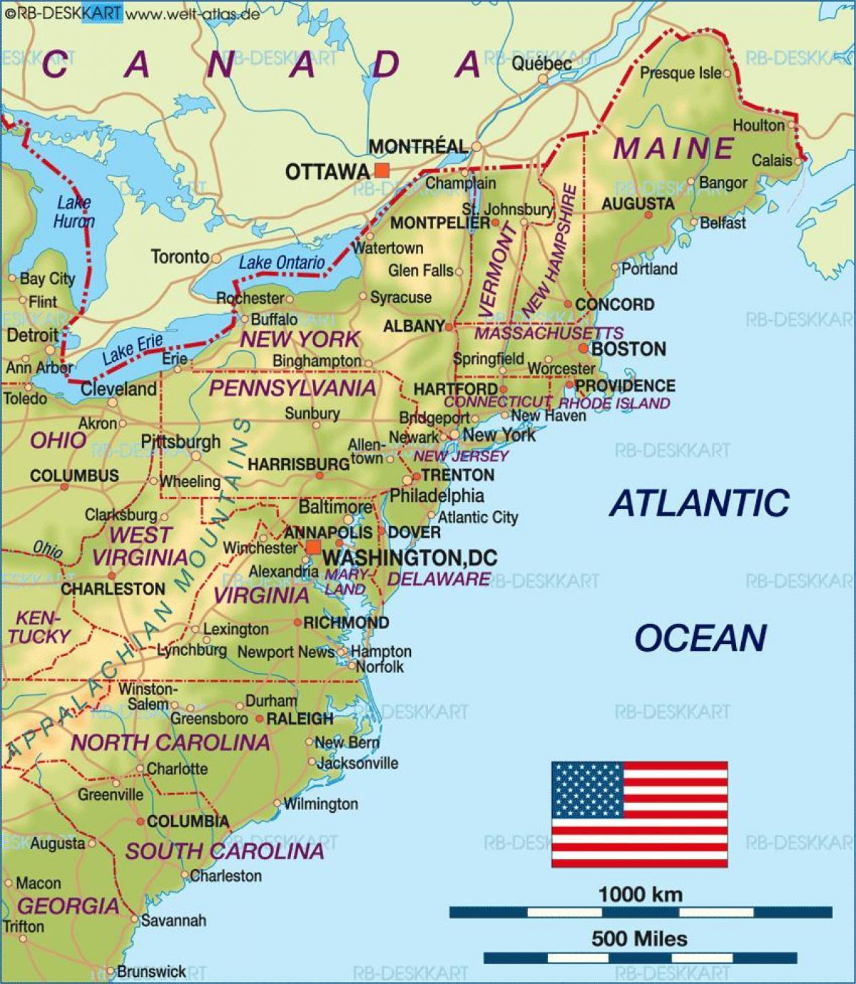 boston kart Boston, usa kart   Boston på oss kart (Usa) boston kart