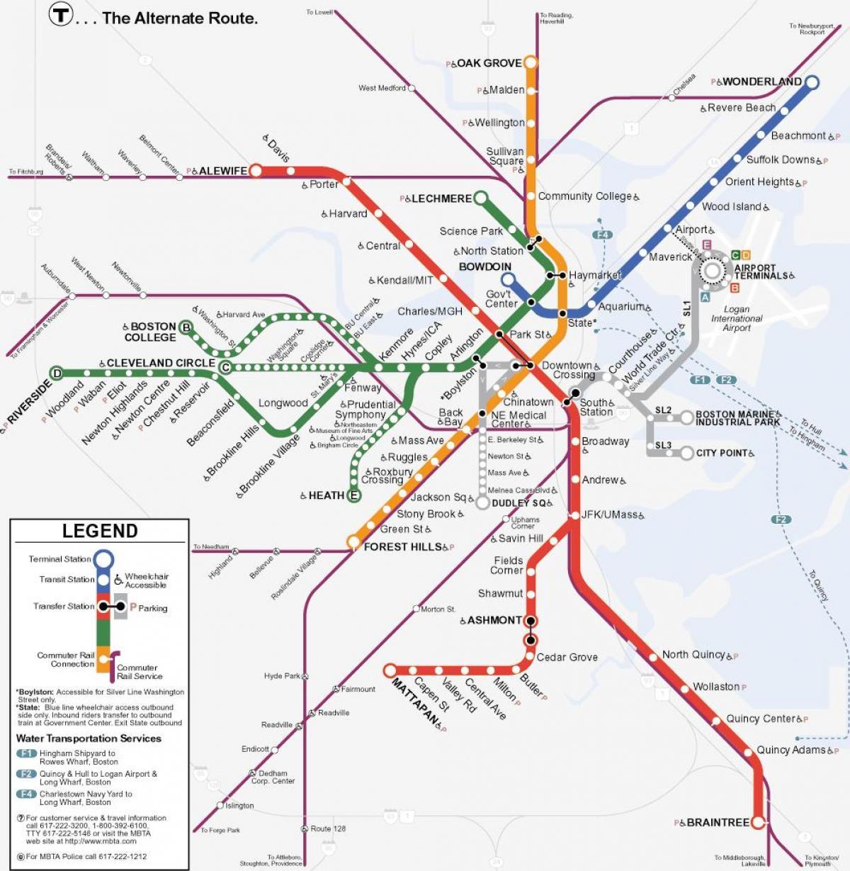 linje på kart MBTA oransje linje kart   Oransje linje Boston kart (Usa) linje på kart